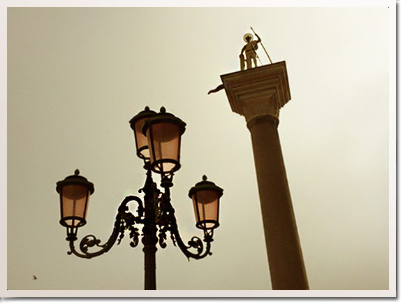 venice lamp post St Mark's square